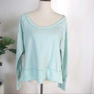 Zella teal fair hi-low sweatshirt -L